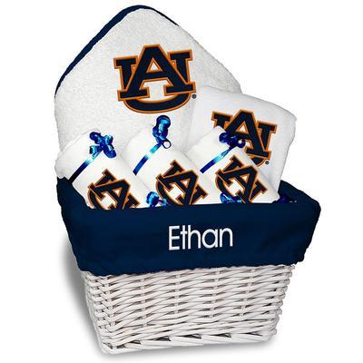 """Chad & Jake Auburn Tigers White Team Personalized Medium Gift Basket"""