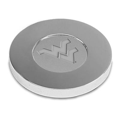 West Virginia Mountaineers Paperweight - Silver