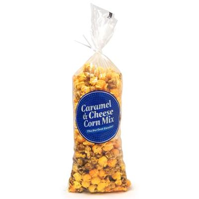 """Gold Medal 2126 16"""" Caramel & Cheese Corn Bags - Poly, Clear"""