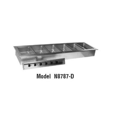 Delfield N8787-D Drop-In Hot Food Well w/ (6) Full Size Pan Capacity, 208 230v/1ph