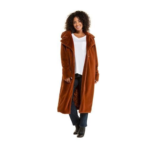 Große Größen Mantel Damen (Größe 46 48, kupfer-rot) | Ulla Popken Mäntel | Polyester, Satinfutter
