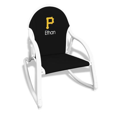 Pittsburgh Pirates Children's Personalized Rocking Chair - Black