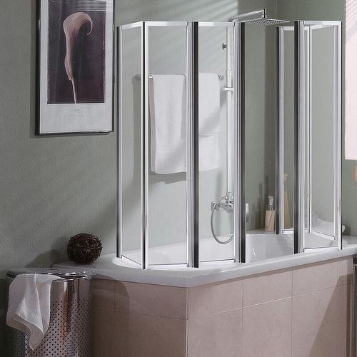 Badewannen Duschfaltwand Duschkabine Badewannenaufsatz Faltwand Dusche Duschtür