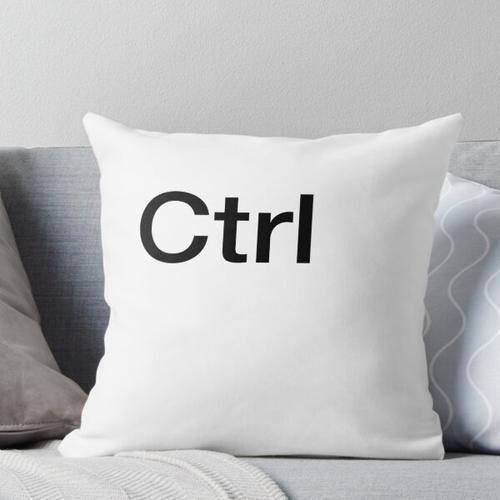 Ctrl Computer Keyboard Key Throw Pillow