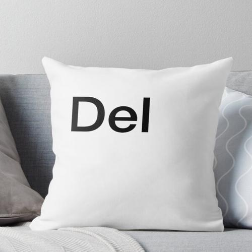 Del Computer Keyboard Key Throw Pillow