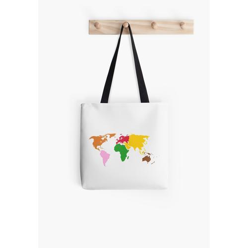 Montessori World Map All Over Print Tote Bag