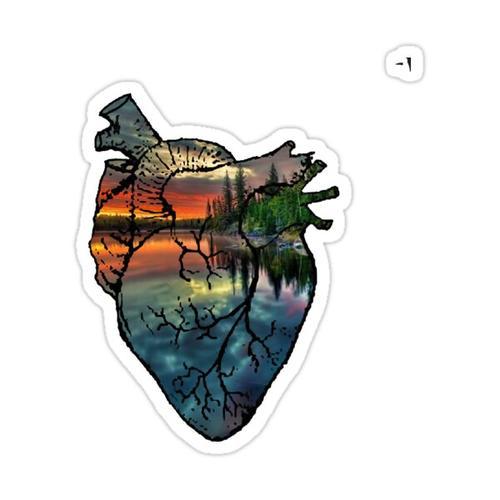 Outdoor Heart Sticker