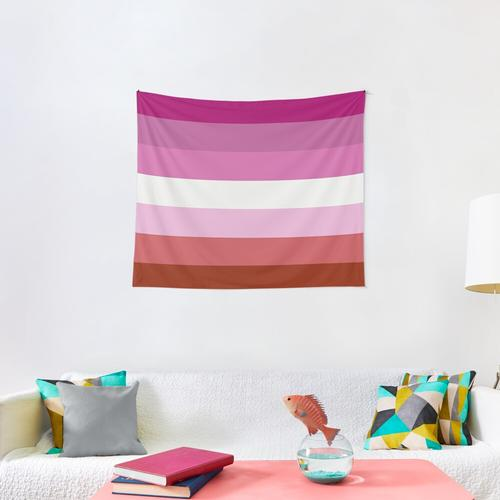 Lesbian Pride Flag Wall Tapestry