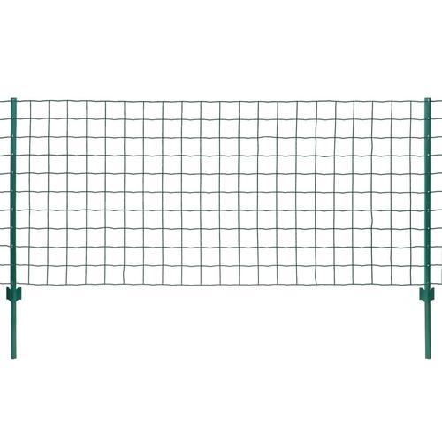 vidaXL Metallzaun Stahl 20 x 1,5 m Grün