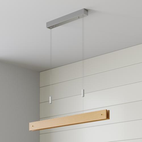 LED-Holz-Pendelleuchte Karinja mit Dimmer, natur