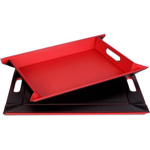 freeform Tablett, mit Doppelfunktion, 41 x 55 cm rot Tischaccessoires Geschirr, Porzellan Haushaltswaren Tablett