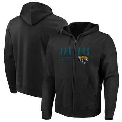 Men's Majestic Black Jacksonville Jaguars Hyper Stack Full-Zip Hoodie