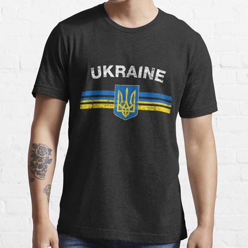 Ukrainian Flag Shirt - Ukrainian Emblem & Ukraine Flag Shirt Essential T-Shirt