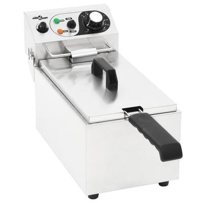 vidaXL Friteuse électrique Acier inoxydable 6 L 2000 W