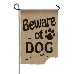Evergreen Garden Flags - 'Beware of Dog' Outdoor Flag