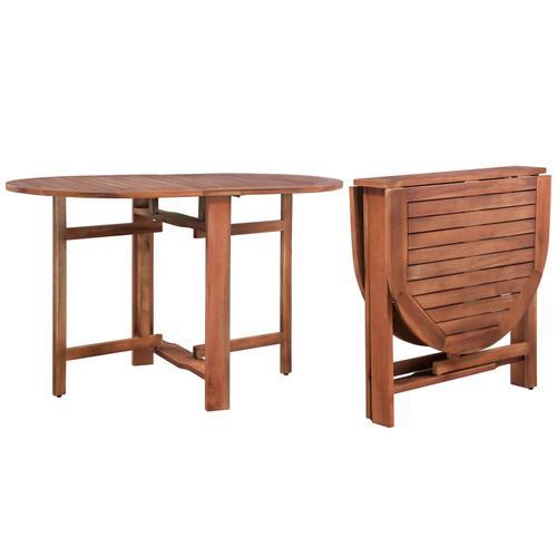 vidaXL Klappbarer Gartentisch 120 x 70 x 74 cm Akazienholz Massiv