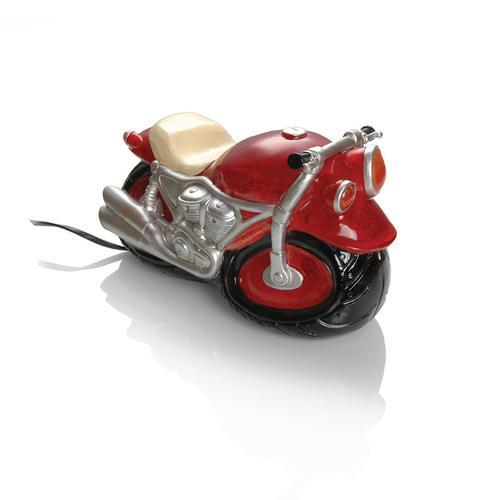 Booster Kunststein Tischlampe Motorrad, rot
