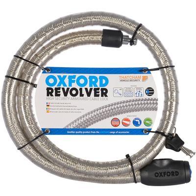 Oxford Revolver 1,8m Verrouillage de câble, argent