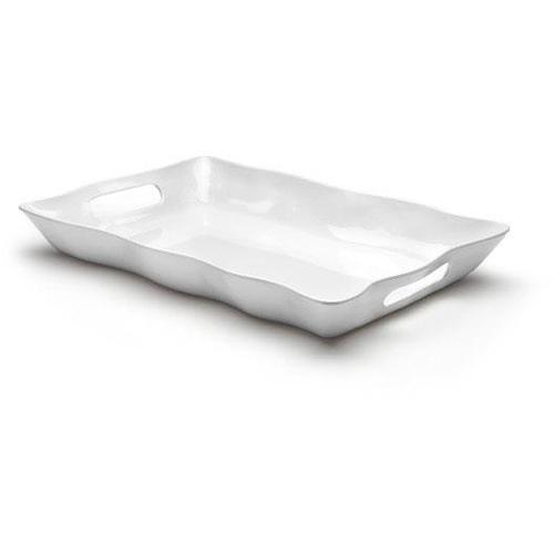 Q Squared NYC Tablett, (1 tlg.) weiß Tablett Tischaccessoires Geschirr, Porzellan Haushaltswaren