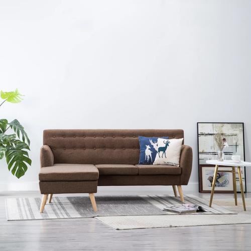 vidaXL Sofa in L-Form Stoffbezug 171,5 x 138 x 81,5 cm Braun
