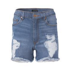 Distressed Jean Shorts Shorts - Blue