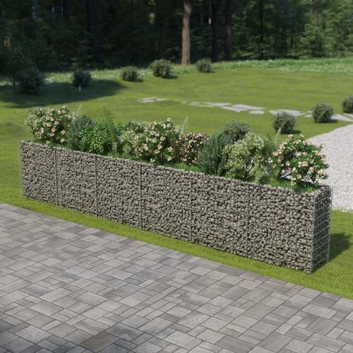 vidaXL Gabionen-Hochbeet Verzinkter Stahl 540×50×100 cm