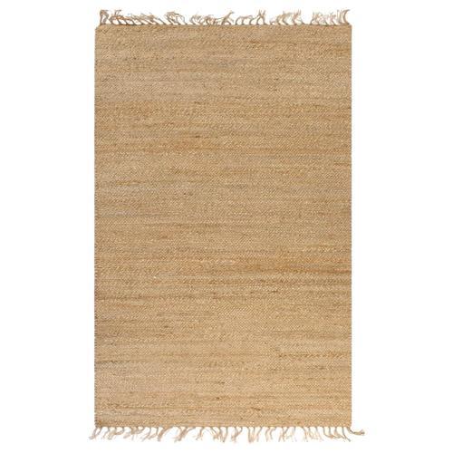 vidaXL Handgewebter Teppich Jute 120 x 180 cm Natur