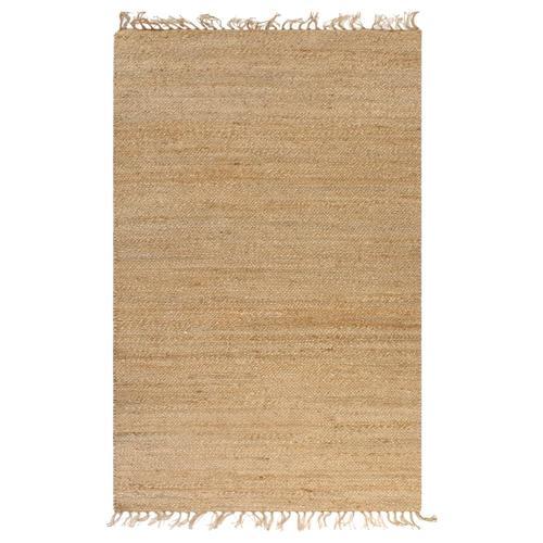 vidaXL Handgewebter Teppich Jute 160 x 230 cm Natur