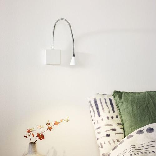 LED Wandleuchte Buddy, flexibel, neutralweiß, weiß