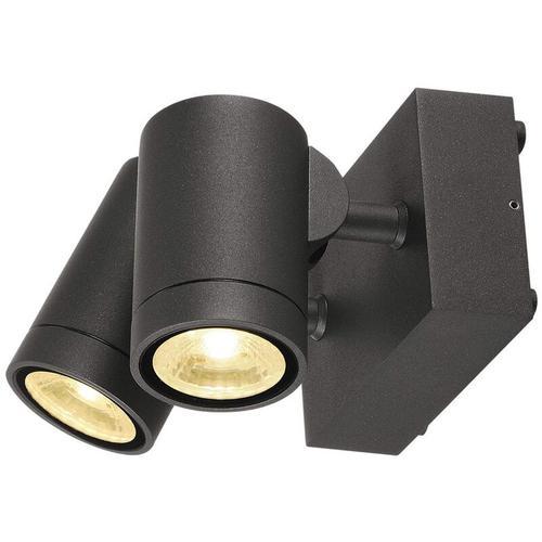 SLV - Schwenkbare LED Wandleuchte Helia, anthrazit, 2-flammig, IP55