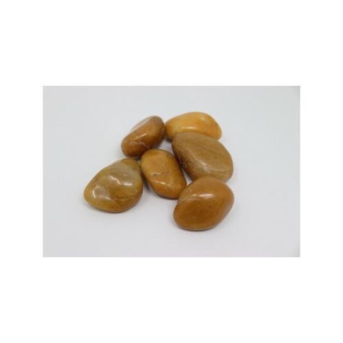 40kg Polierter Kiesel Flusskiesel Kieselsteine Gartenkies Zierkies gelb