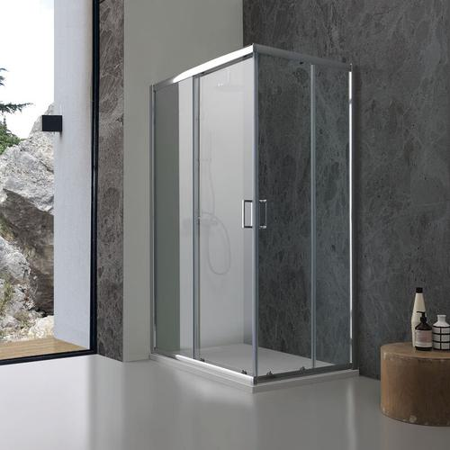 Duschkabine Giada 70 × 70 Mit Transparentem 6 Mm Kristallglas