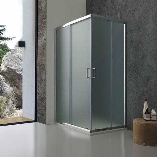 Duschkabine Giada 80 × 100 Aus Mattem 6 Mm Kristallglas Mit Orangenhautstruktur