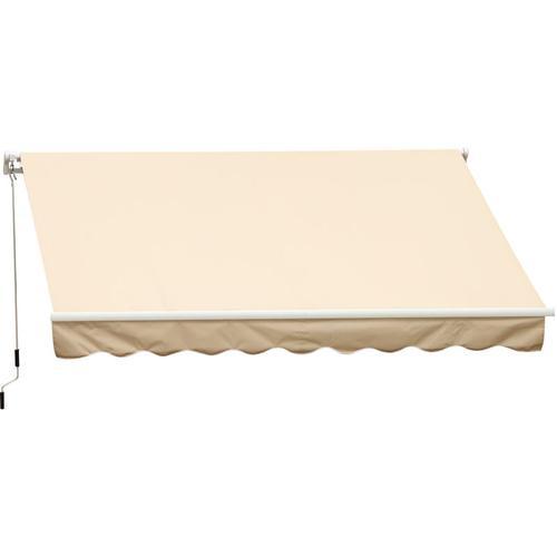 Outsunny® Markise Gelenkarmmarkise Sonnenschutz Creme 3,95x2,5m - creme