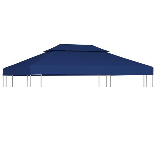vidaXL Dachplane für Pavillon mit Kaminabzug 310 g/m² 4×3 m Blau