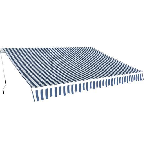 vidaXL Gelenkarmmarkise 350 cm Blau/Weiß
