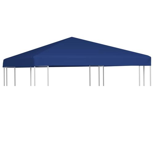 vidaXL Pavillondach 310 g/m² 3x3 m Blau