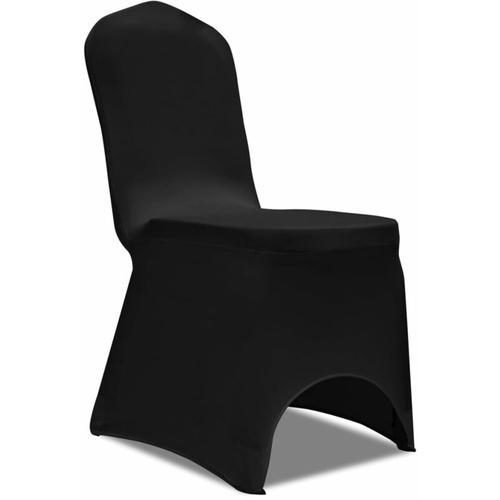 Stretch-Stuhlhussen 100 Stk. Schwarz