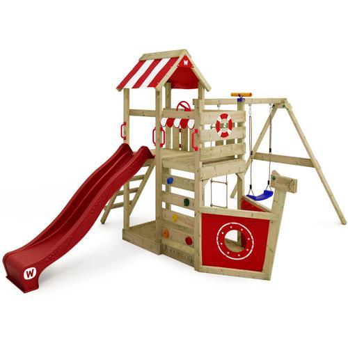 No_brand - WICKEY Spielturm Klettergerüst SeaFlyer mit Schaukel & roter Rutsche, Baumhaus mit