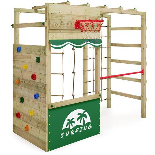 Klettergerüst Spielturm Smart Action Gartenspielgerät mit Kletterwand & Spiel-Zubehör - Wickey