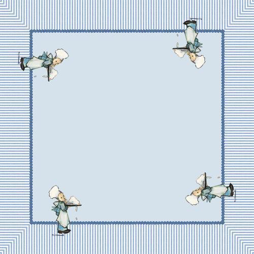 M.I. Hummel Mitteldecke Kleine Konditor, (1 St.) blau Mitteldecken Tischwäsche