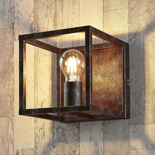 Rostfarbene Wandlampe Emin aus Metall