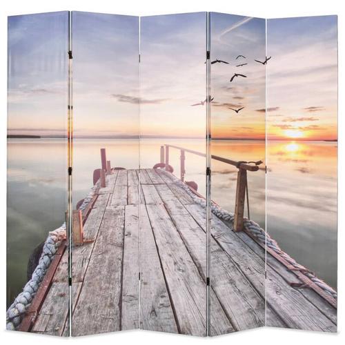Raumteiler klappbar 200 x 170 cm See mit Steg