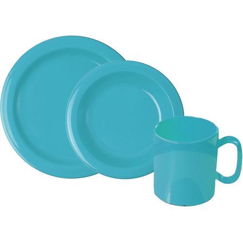 WACA Frühstücks-Geschirrset, (Set, 6 tlg.) blau Frühstücks-Geschirrset Frühstücksset Eierbecher Geschirr, Porzellan Tischaccessoires Haushaltswaren