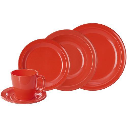 WACA Kombiservice, (Set, 10 tlg.) rot Geschirr-Sets Geschirr, Porzellan Tischaccessoires Haushaltswaren Kombiservice