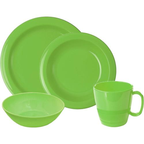 WACA Frühstücks-Geschirrset, (Set, 8 tlg.) grün Frühstücks-Geschirrset Frühstücksset Eierbecher Geschirr, Porzellan Tischaccessoires Haushaltswaren