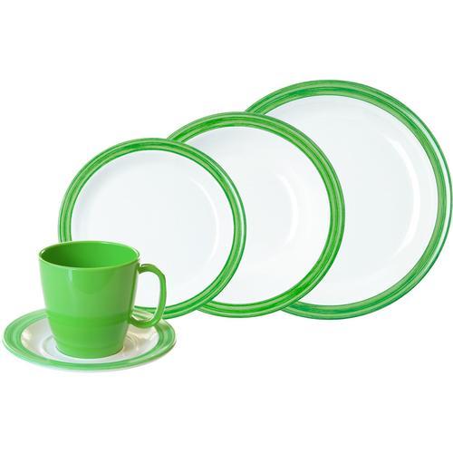 WACA Kombiservice Bistro, (Set, 10 tlg.) grün Geschirr-Sets Geschirr, Porzellan Tischaccessoires Haushaltswaren