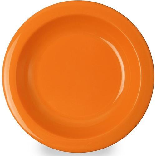 WACA Suppenteller, (Set, 4 St.), Ø 21,6 cm, Kunststoff orange Teller Geschirr, Porzellan Tischaccessoires Haushaltswaren Suppenteller