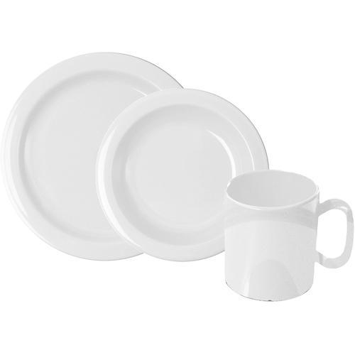 WACA Frühstücks-Geschirrset, (Set, 6 tlg.) weiß Frühstücks-Geschirrset Frühstücksset Eierbecher Geschirr, Porzellan Tischaccessoires Haushaltswaren