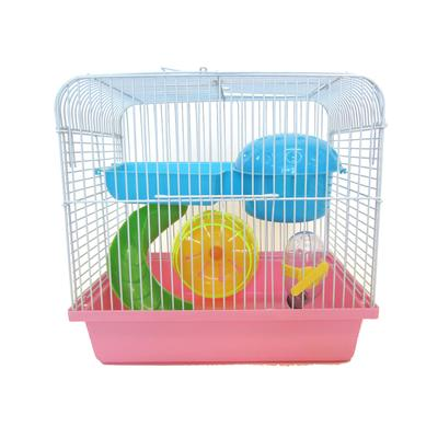 YML Travel Mice, Dwarf hamster Pink Cage, Small